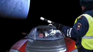 Vesmírem létá muskovit Tesla