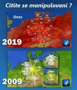 předpověď počasí - cítíte se manipulovaní
