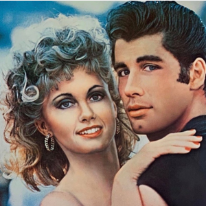 Olivia Newton and John Travolta