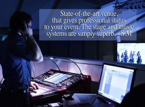Scientologické komunitní centrum - technika pro pořádání společenských akcí ve společenském sále