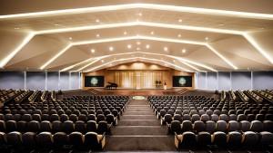 Společenský sál pro 1053 osob, Komunitní centrum a Scientologická církev Dublin Irsko