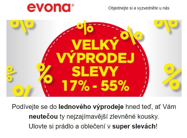 EVONA lednový výprodej