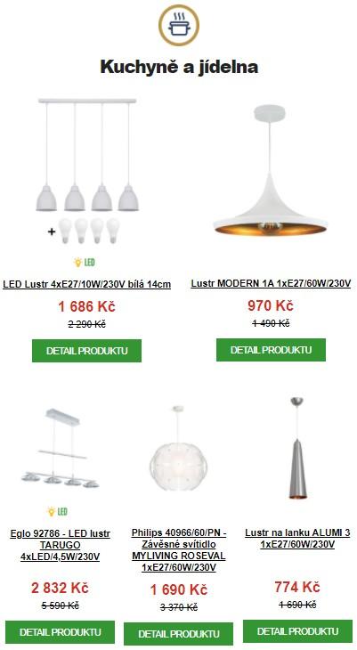 světla pro kuchyne a jidelny