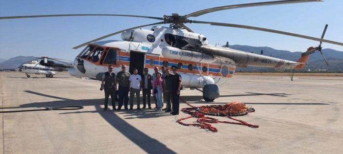 Kazašská hasičská záchranná skupina dokončila misi v Turecku