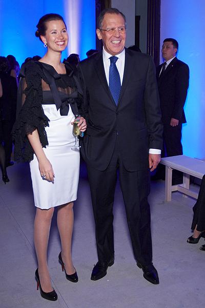 Sergej Lavrov a jeho dcera Kateřina