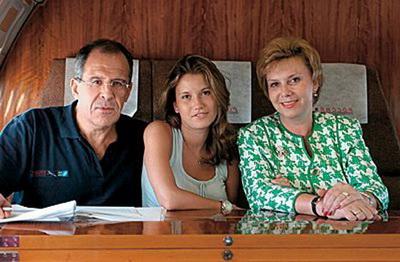 Na fotografii - rodina Sergeje Lavrova